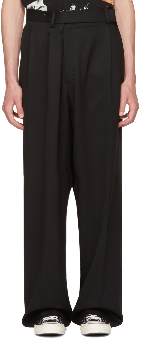 Image of Ambush Black Overwrap Suit Pants