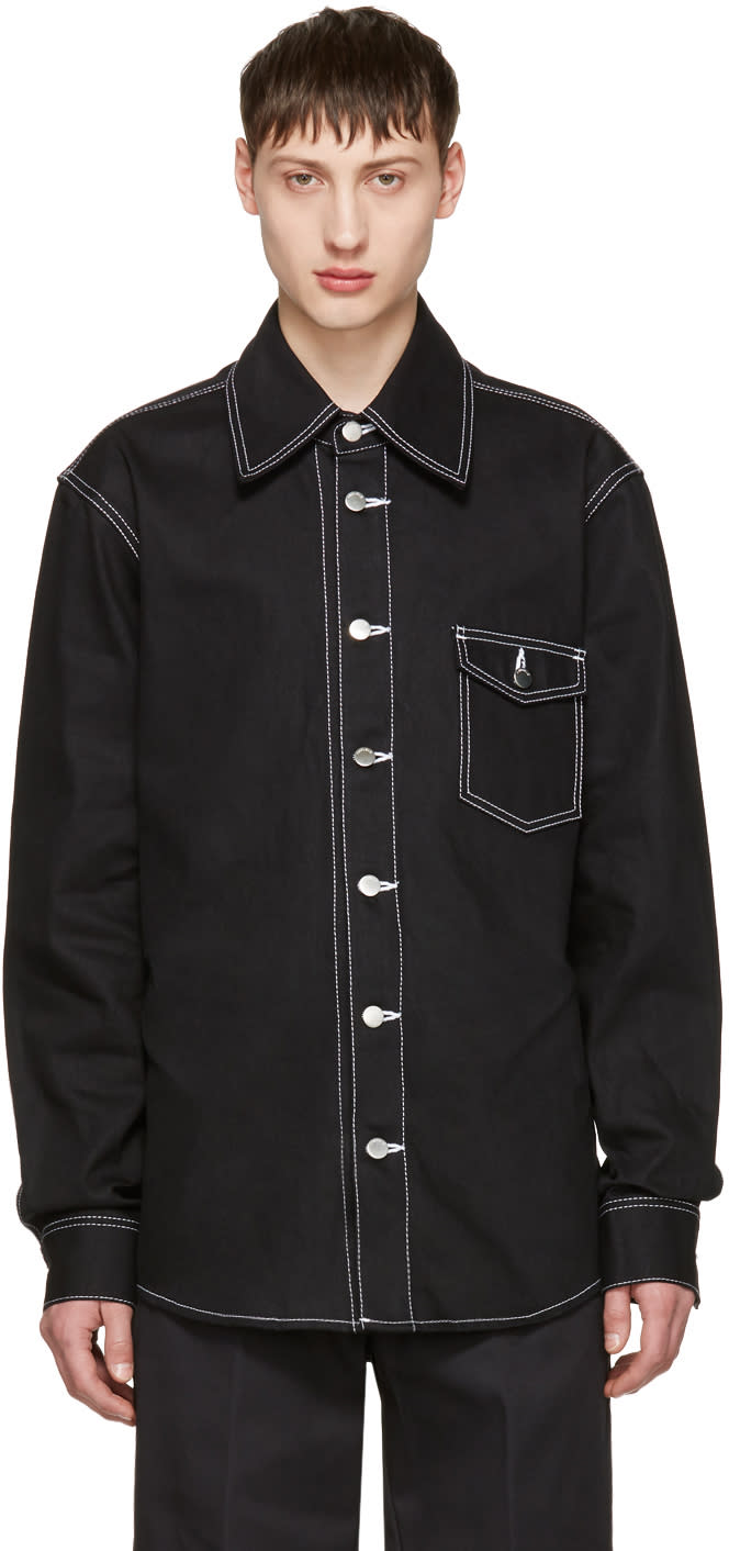 Image of Ambush Black Denim Overshirt