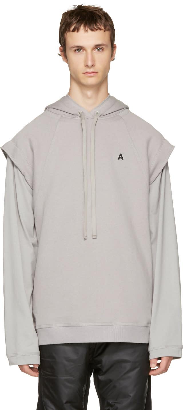Image of Ambush Grey Logo Hoodie