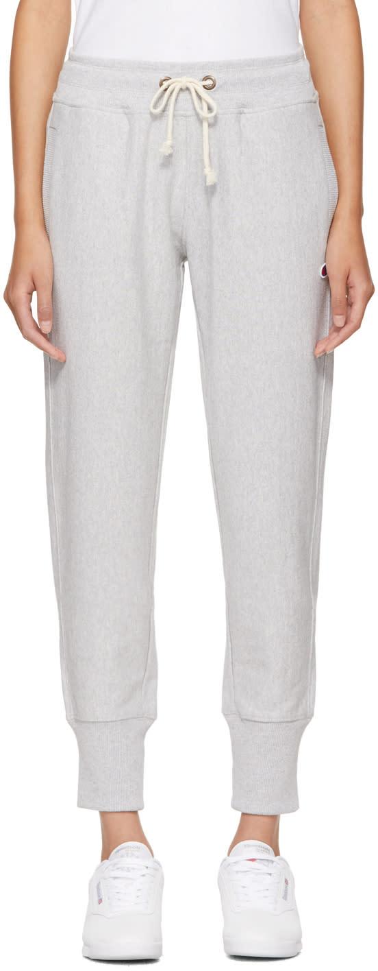 Champion Reverse Weave Pantalon De Survêtement à Logo Gris