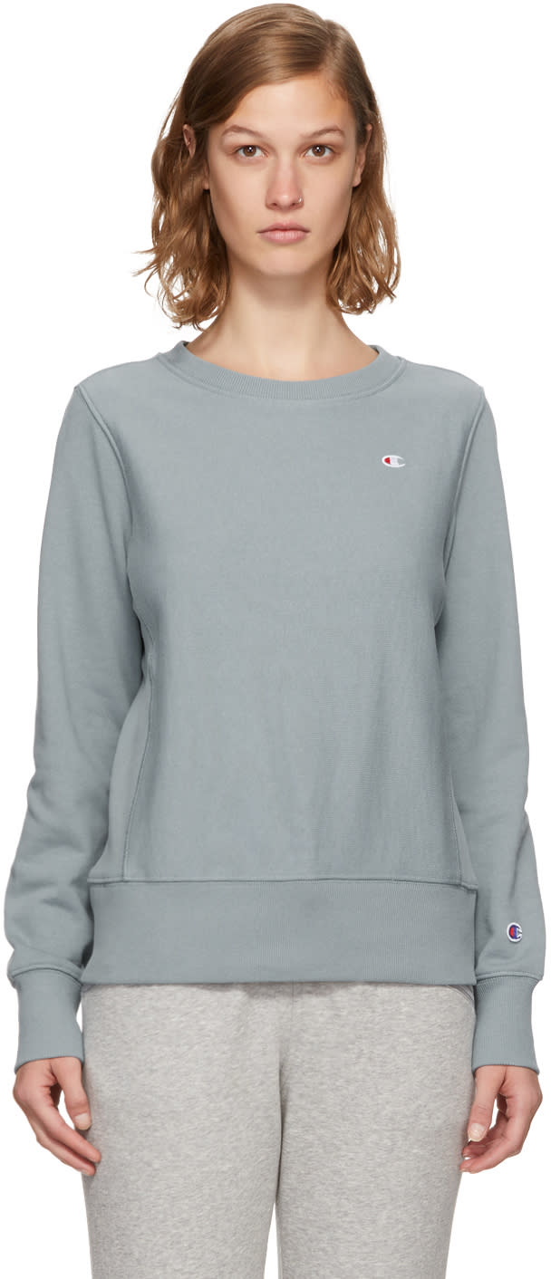 d59f77c999e Champion Reverse Weave Blue Small Logo Sweatshirt