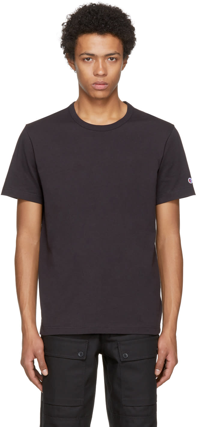 Image of Champion Reverse Weave Black Jersey T-shirt
