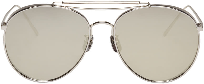 Gentle Monster Silver Big Bully Sunglasses