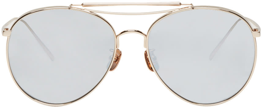 Gentle Monster Gold Big Bully Sunglasses