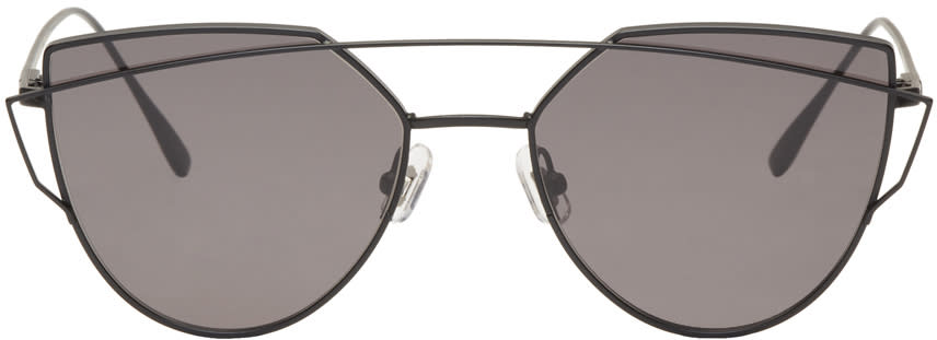 Gentle Monster Black Love Punch Sunglasses