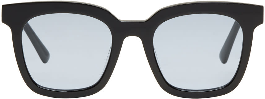 Image of Gentle Monster Black and Blue Finn Sunglasses