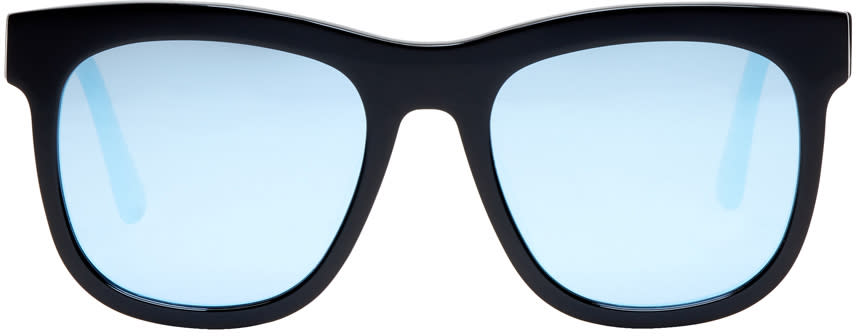 Image of Gentle Monster Black and Blue Pulp Fiction Sunglasses