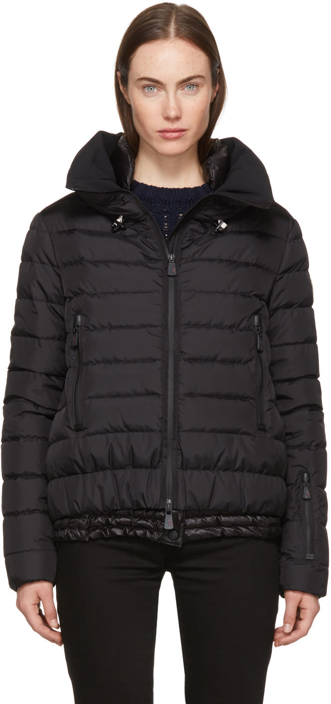 Image of Moncler Grenoble Black Down Vonne Jacket