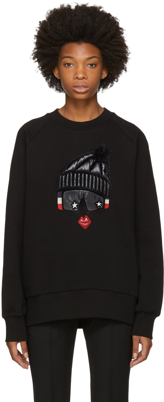 Image of Moncler Grenoble Black Face Sweatshirt
