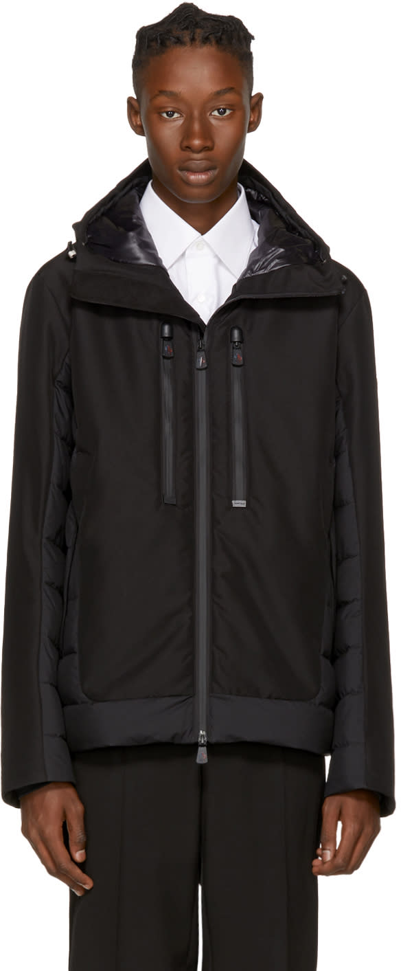 Image of Moncler Grenoble Black Down Bessans Jacket