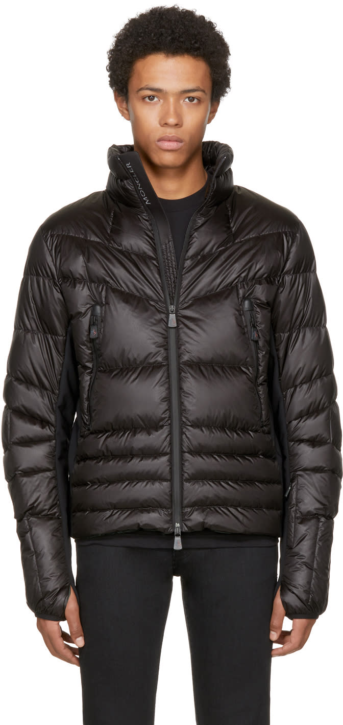 Image of Moncler Grenoble Black Down Canmore Jacket