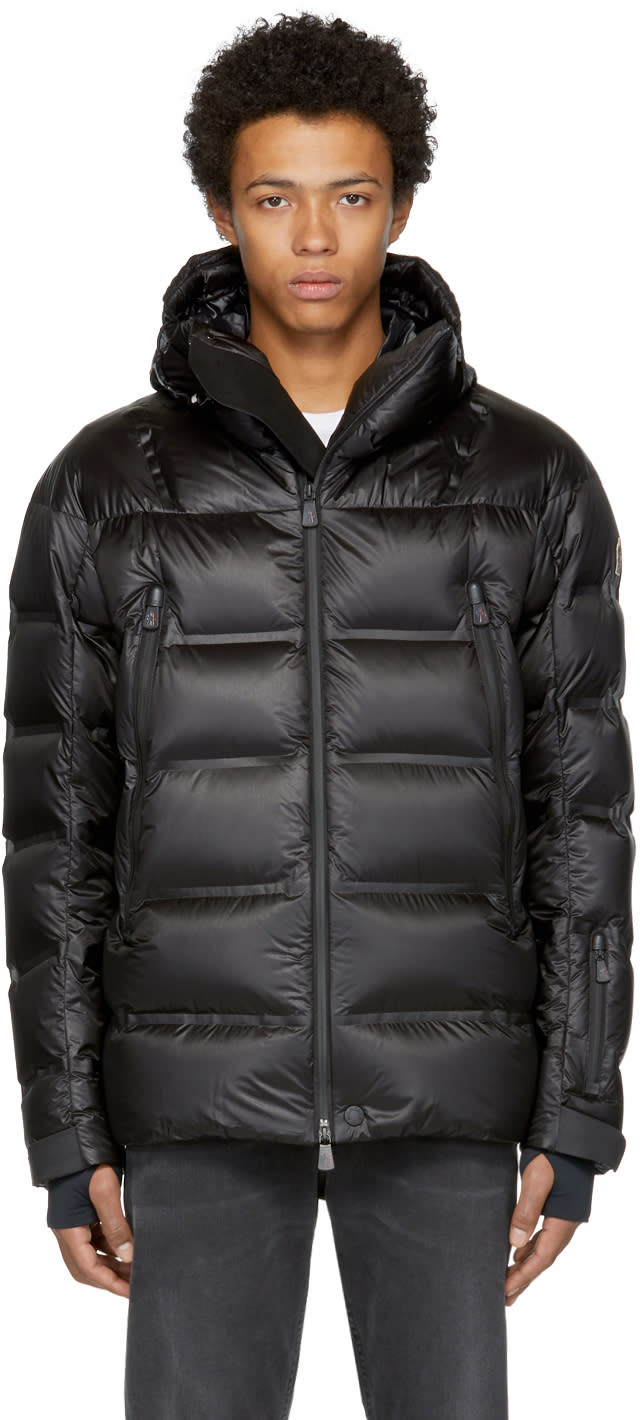 Image of Moncler Grenoble Black Down Sestriere Jacket