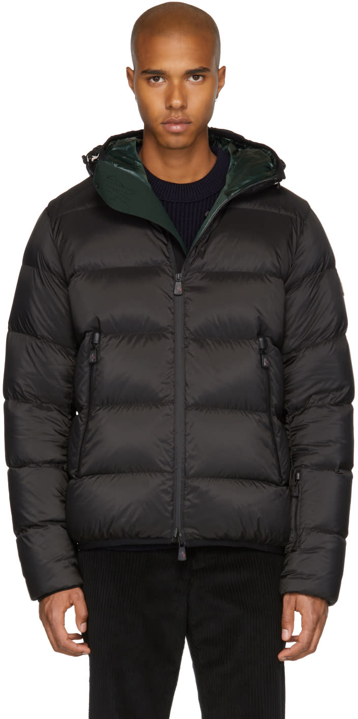 Image of Moncler Grenoble Black Down Hintertux Jacket