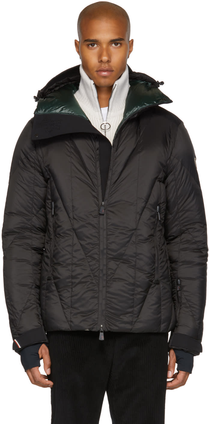 Image of Moncler Grenoble Black Down Saintlary Jacket