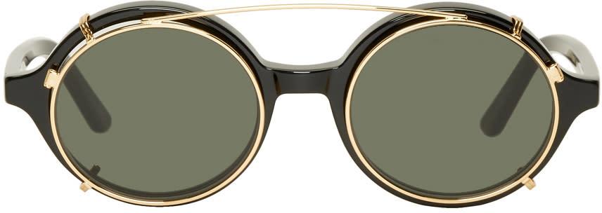 Image of Han Kjobenhavn Black and Green Doc Clip-on Sunglasses