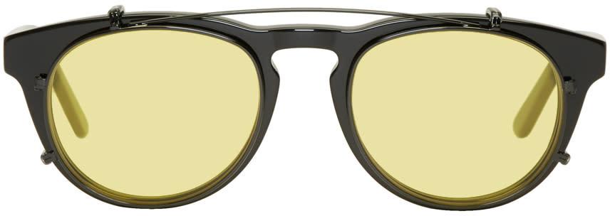 Image of Han Kjobenhavn Black and Yellow Timeless Clip-on Sunglasses