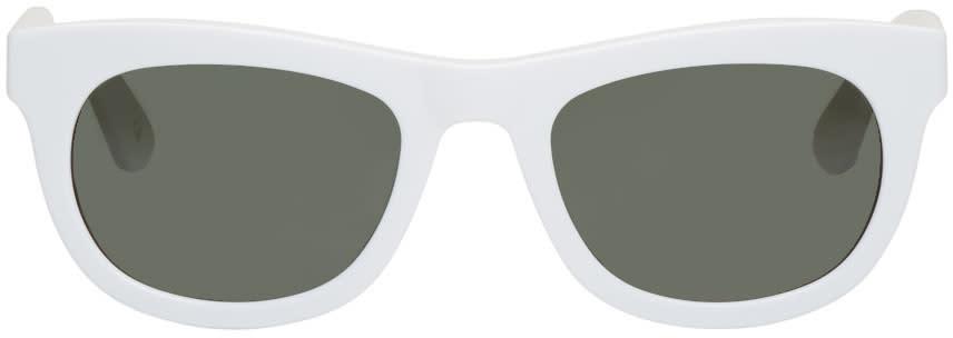 Han Kjobenhavn White Cubicle Sunglasses