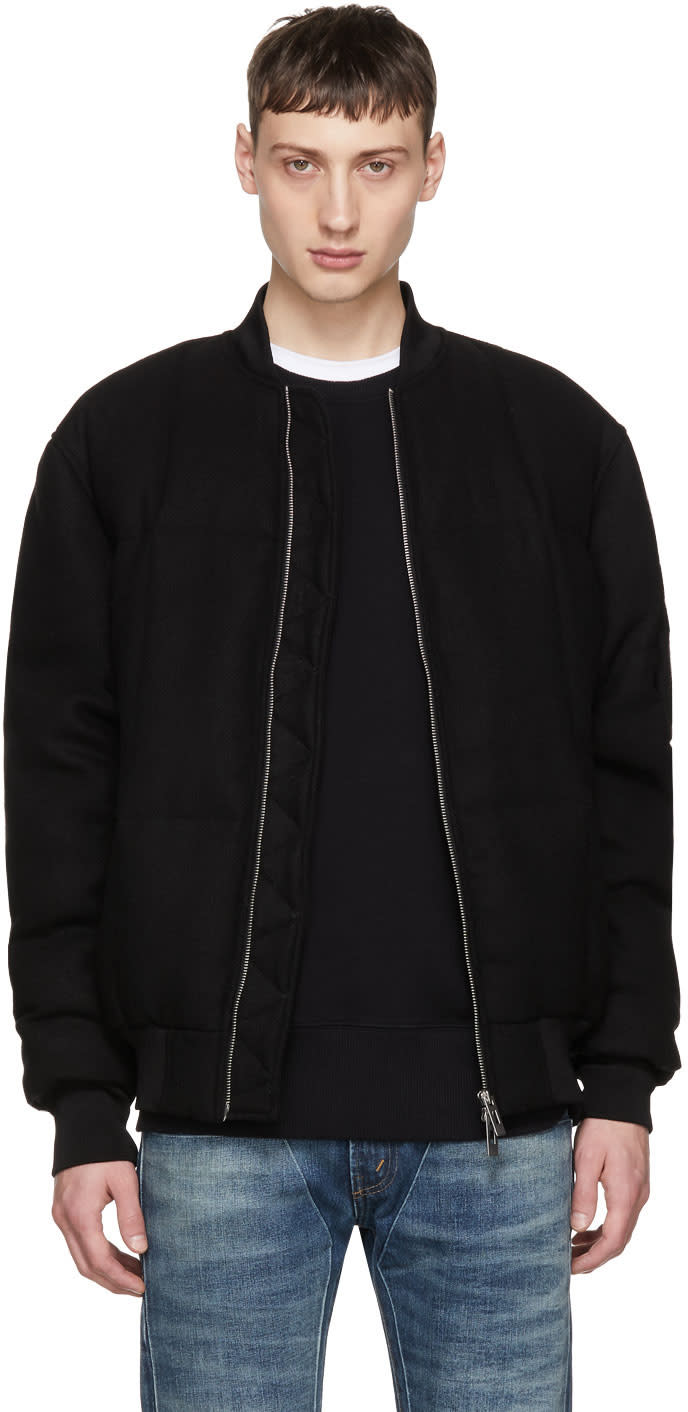 Image of Han Kjobenhavn Black Quilted Bomber Jacket