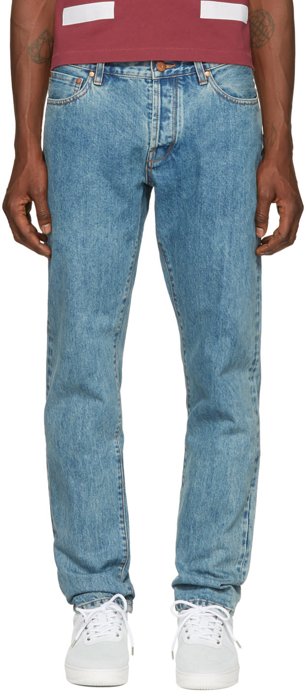 Image of Han Kjobenhavn Blue Tapered Jeans