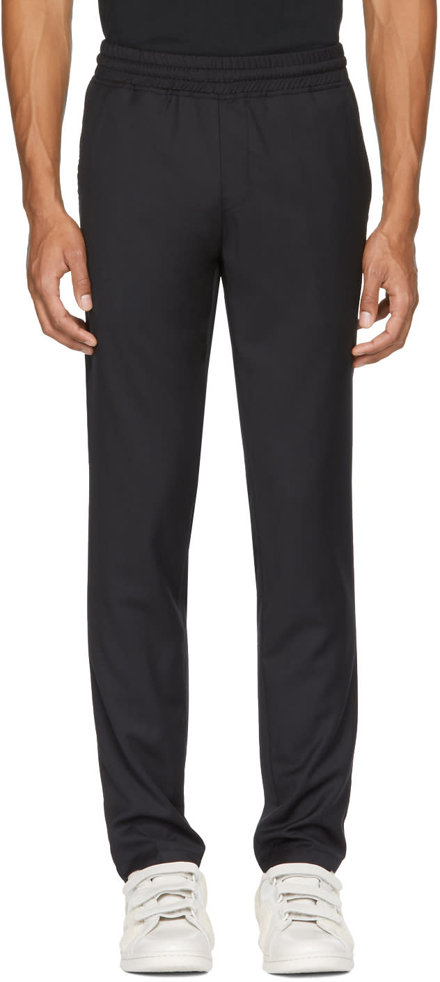 Image of Han Kjobenhavn Black Wool Track Pants