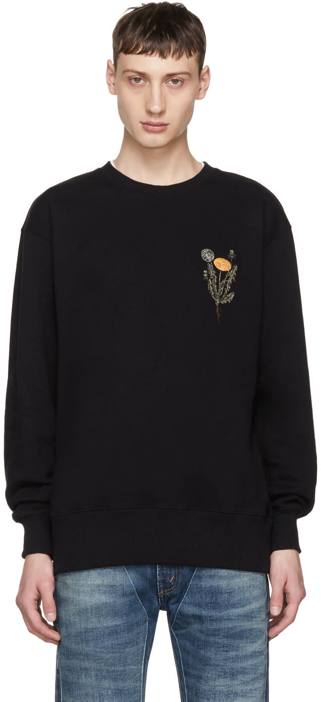 Image of Han Kjobenhavn Black Flower Bulky Sweatshirt