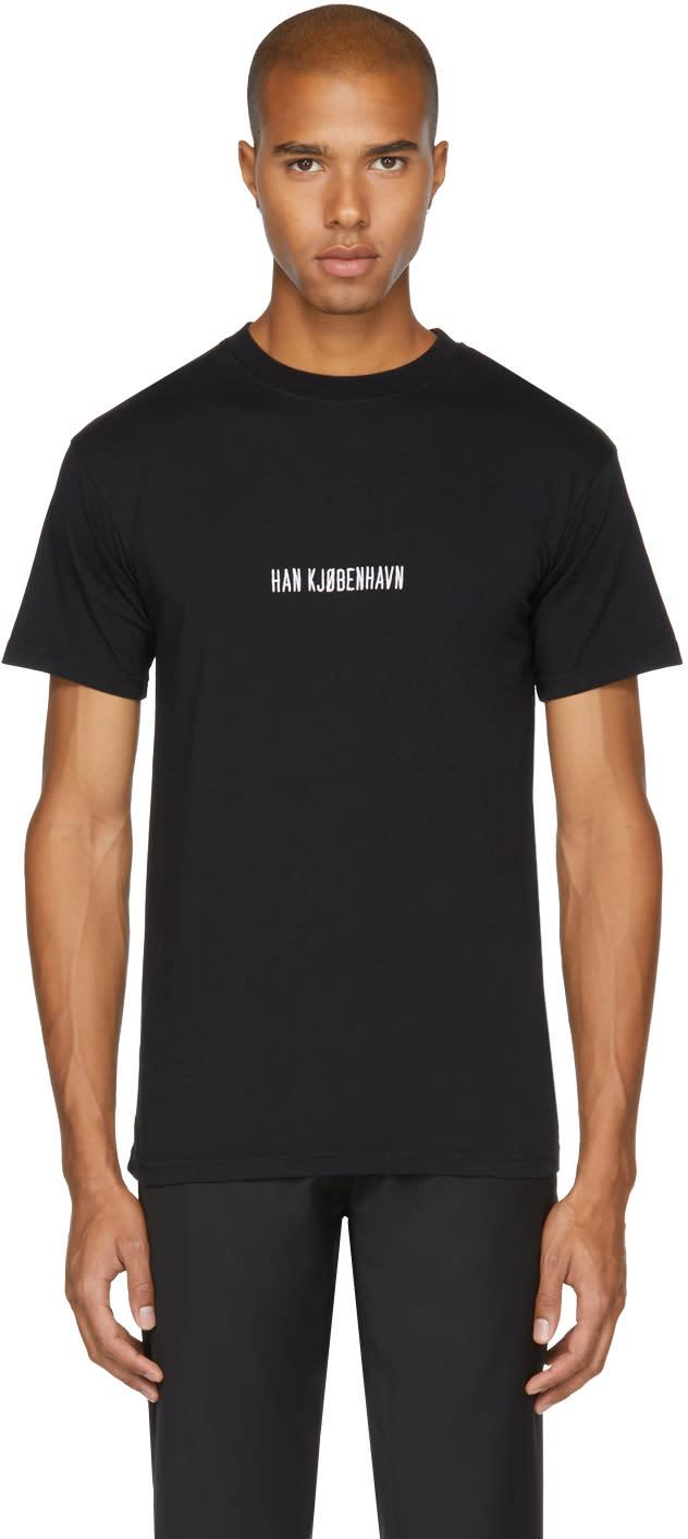 Image of Han Kjobenhavn Black Logo Casual T-shirt