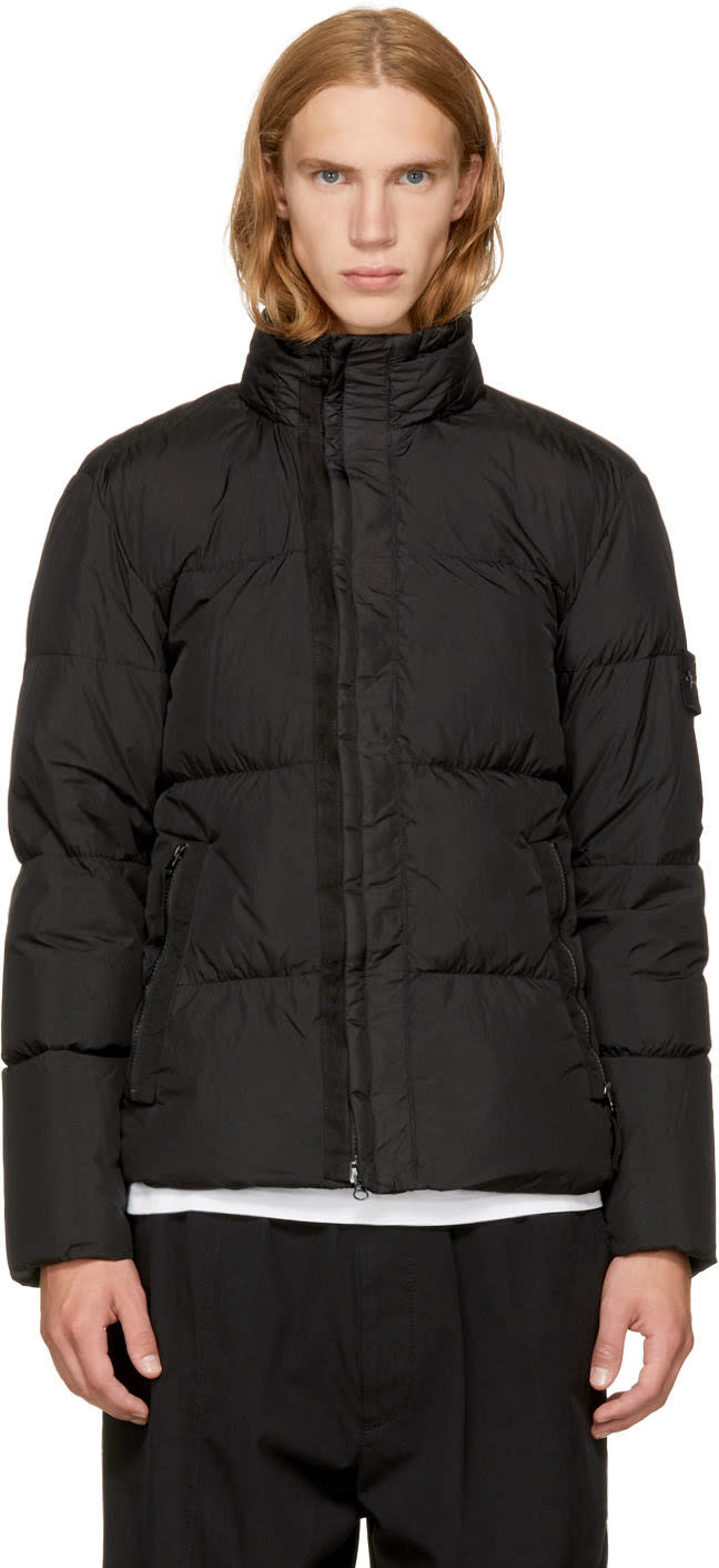 Image of Stone Island Black Down Puffy Jacket