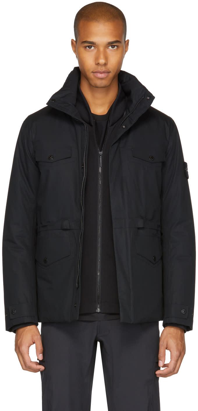 Image of Stone Island Black Four-pocket Jacket