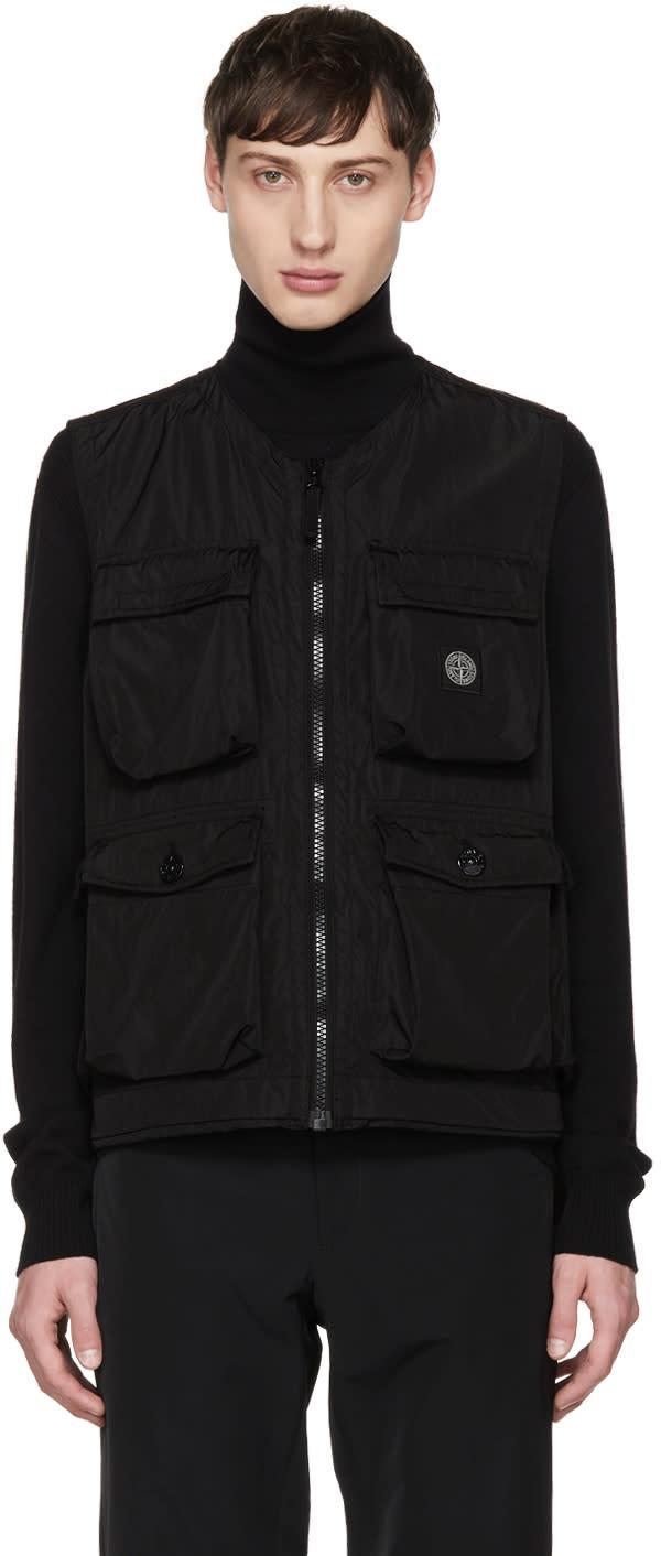 Image of Stone Island Black Cargo Vest