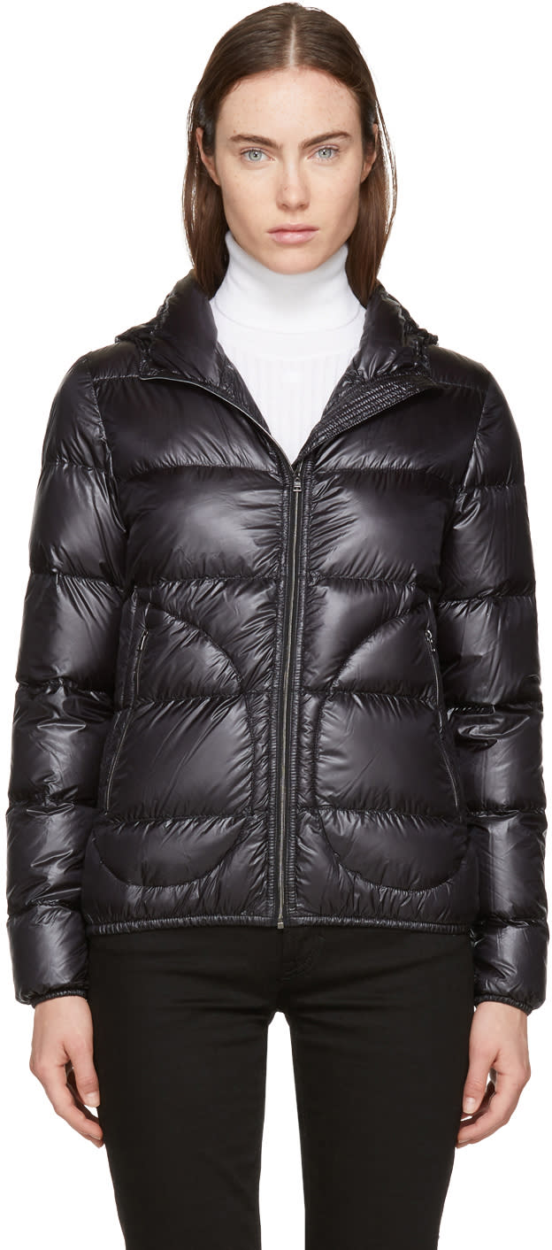 Image of Herno Black Down Extra Light Hooded Jacket
