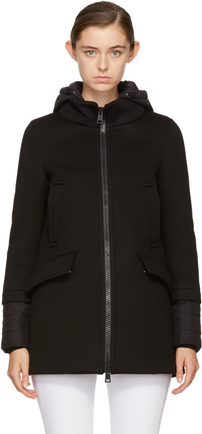 Image of Herno Black Down Scuba Coat