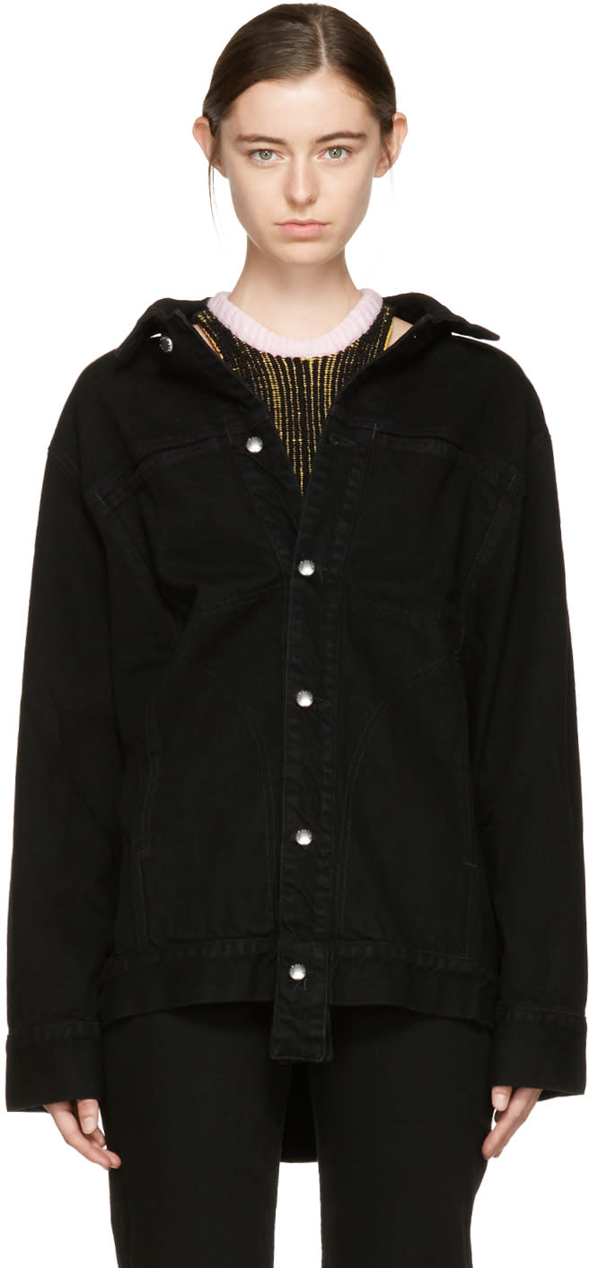 Image of Eckhaus Latta Black Oversized Denim Jacket