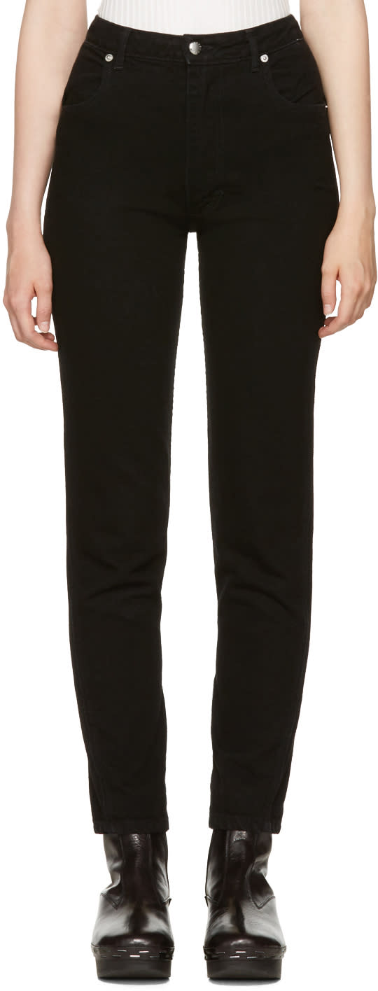Image of Eckhaus Latta Black Straight Leg El Jeans