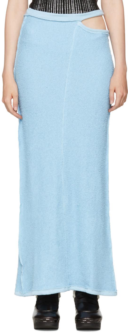 Eckhaus Latta Blue Lapped Fleece Skirt