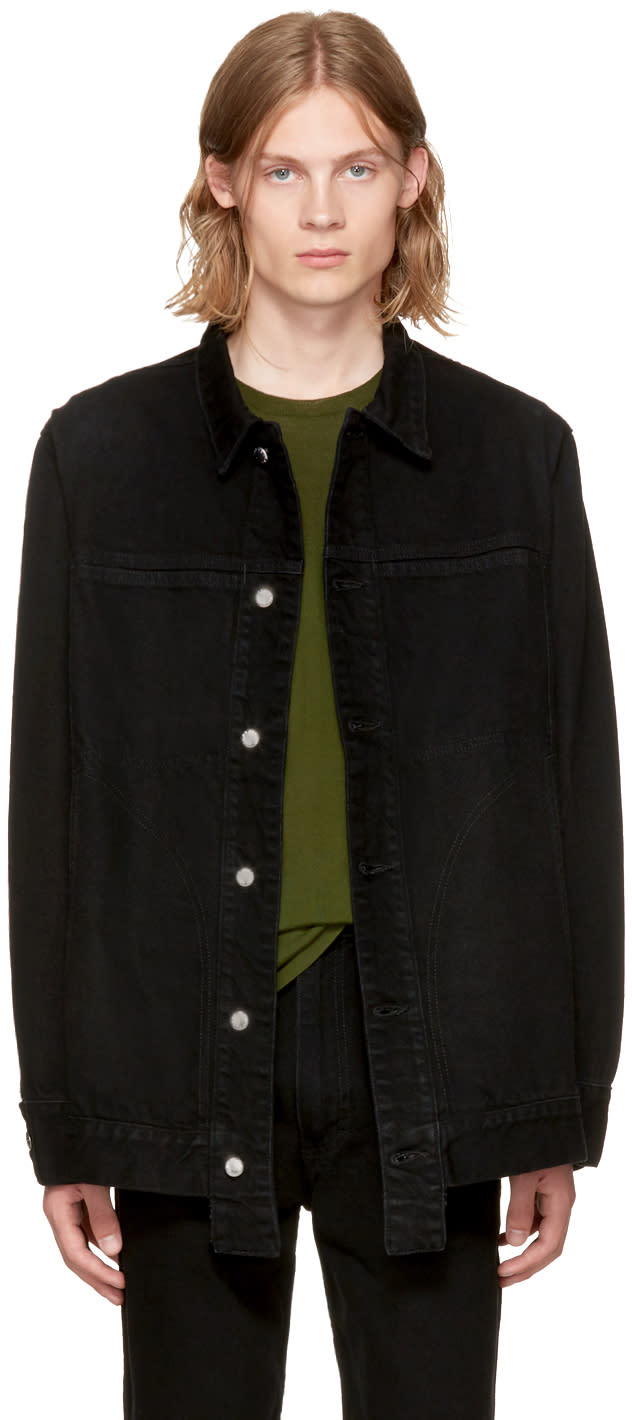Image of Eckhaus Latta Black Classic Denim Jacket
