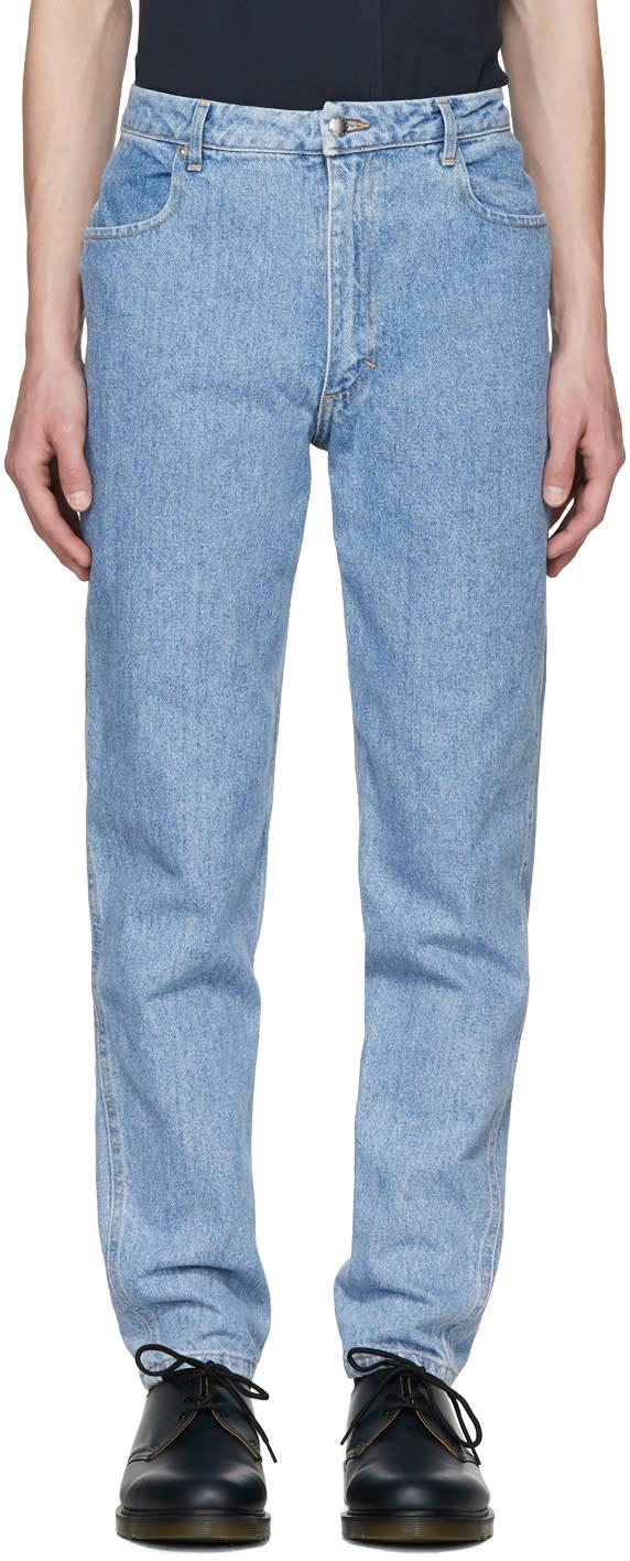 Image of Eckhaus Latta Blue El Jeans