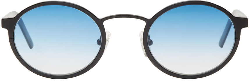 Image of Blyszak Black and Blue Signature Sunglasses
