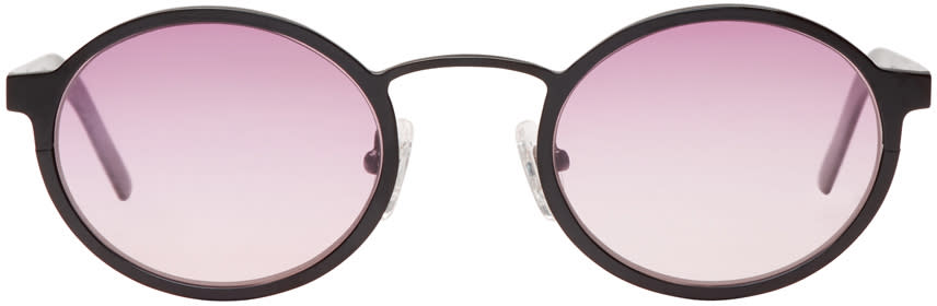 Image of Blyszak Black and Pink Signature Sunglasses