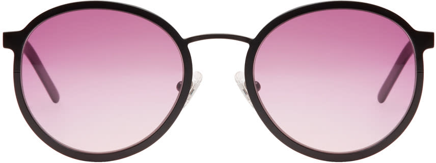Image of Blyszak Black and Pink Collection Iv Sunglasses