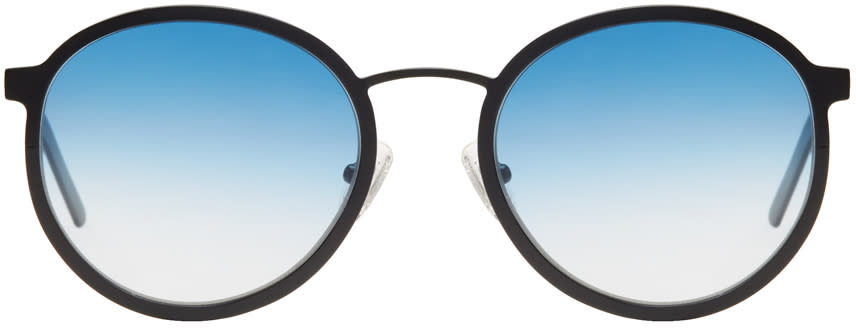Image of Blyszak Black and Blue Collection Iv Sunglasses