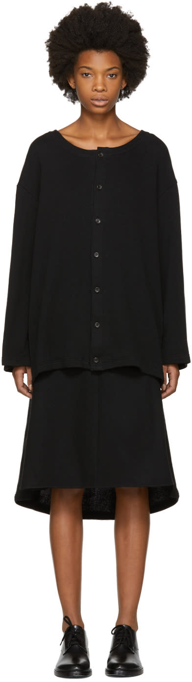 Image of Nocturne 22 Black Fleece Long Cardigan