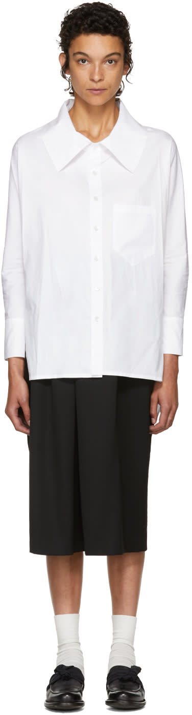 Image of Nocturne 22 White Dolman Sleeve Shirt