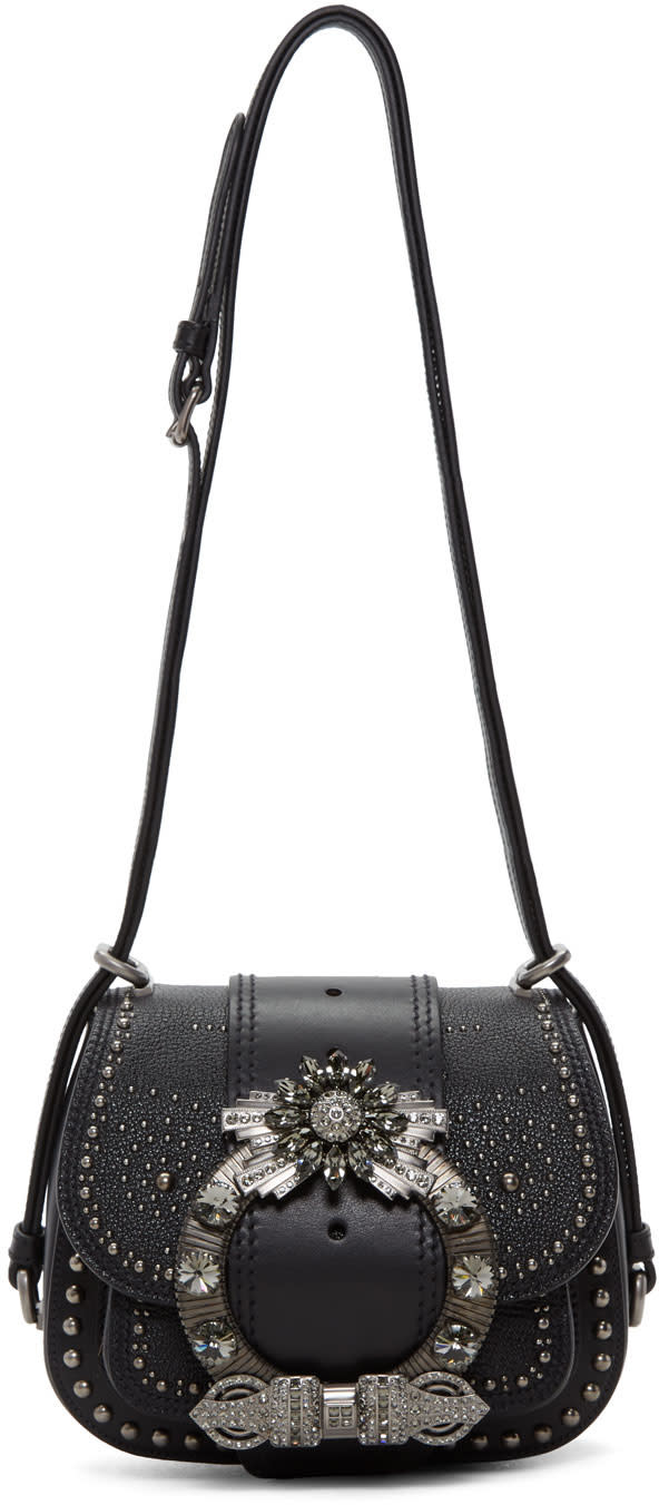 Miu Miu Black Mini Dahlia Bag