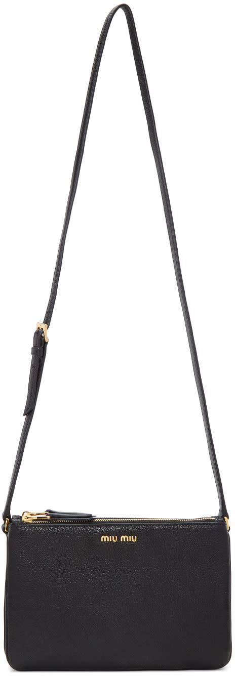 Miu Miu Black Double Pochette Bag