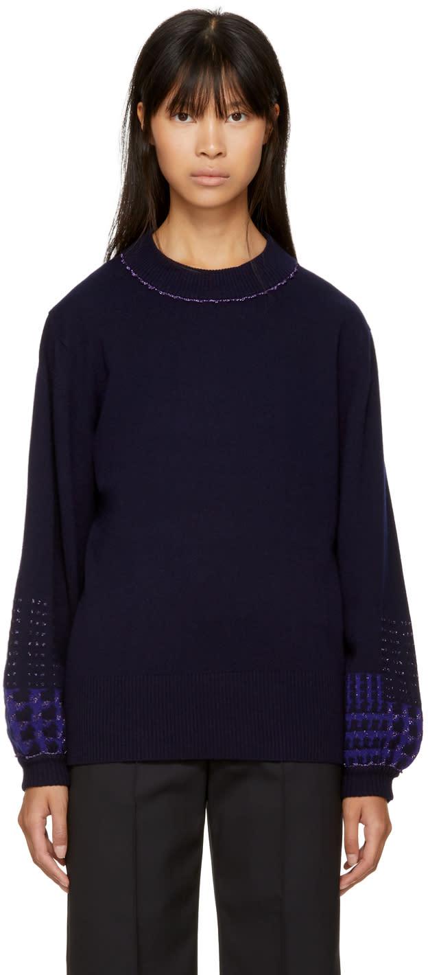 Image of Harikae Navy Wide Sleeve Sweater