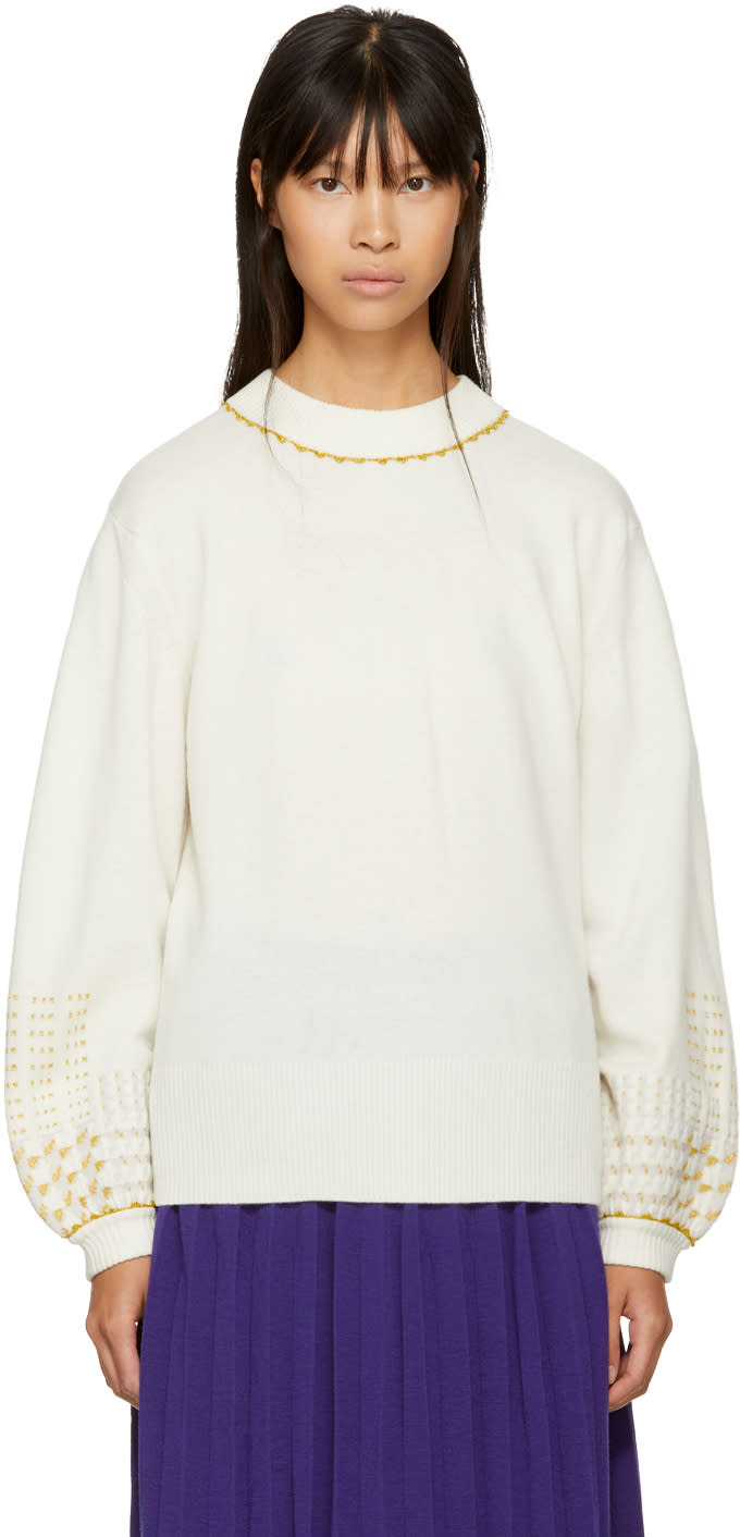 Image of Harikae Off-white Wide Sleeve Sweater