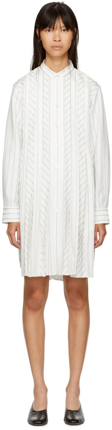 Image of Harikae Off-white Shirt Dress