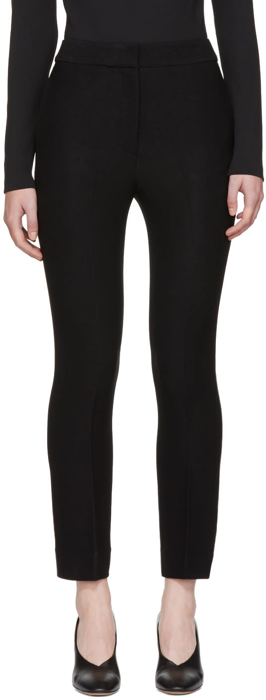 Image of Wendelborn Black Flare Cigarette Trousers