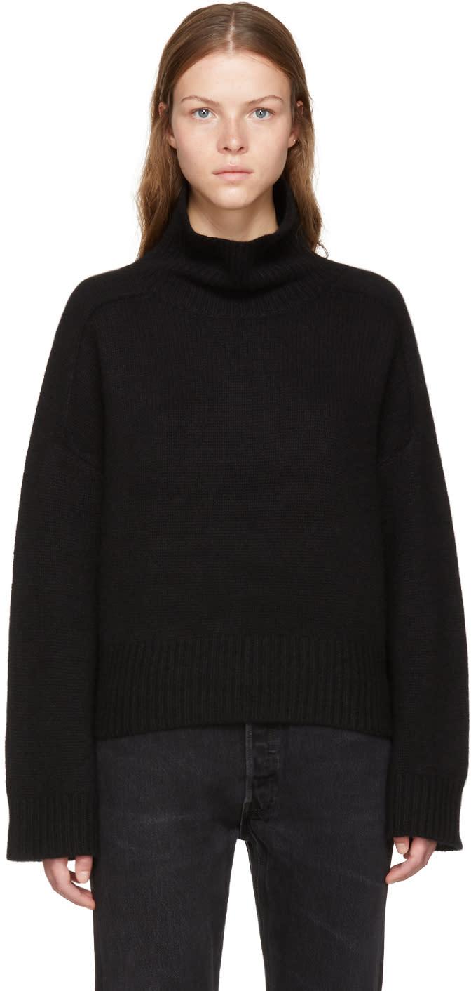 Image of Wendelborn Black Oversized Cashmere Turtleneck