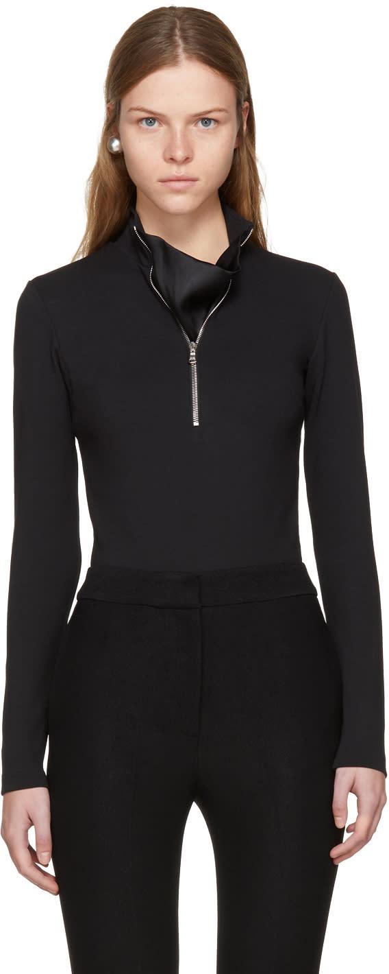 Image of Wendelborn Black Zip-up Bodysuit